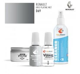 Stylo Retouche Renault D69 GRIS PLATINE MET