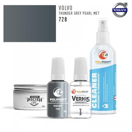 Stylo Retouche Volvo 728 THUNDER GREY PEARL MET
