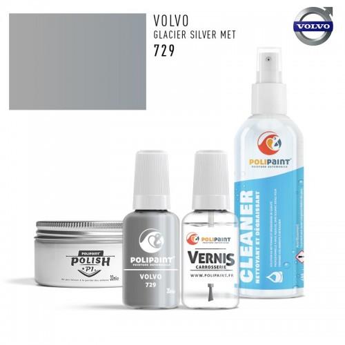 Stylo Retouche Volvo 729 GLACIER SILVER MET