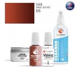 325 SUNSET RED MET Saab