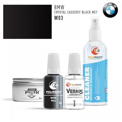 Stylo Retouche BMW W03 CRYSTAL CASSERIT BLACK MET