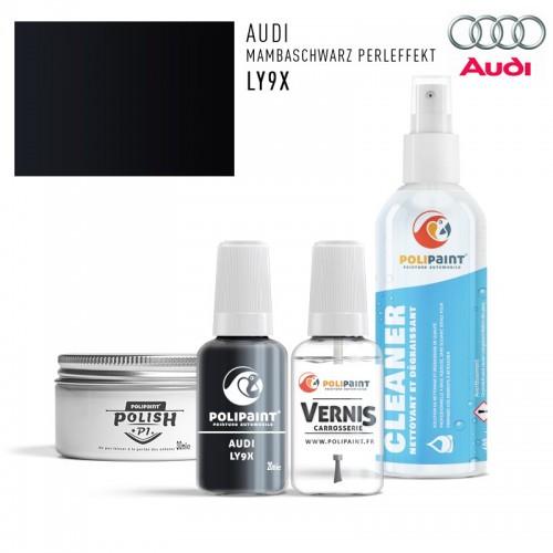 Stylo Retouche Audi LY9X MAMBASCHWARZ PERLEFFEKT