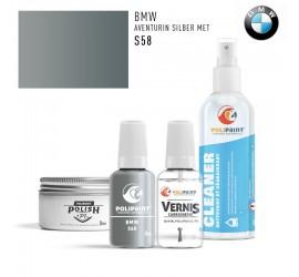 S58 AVENTURIN SILBER MET BMW