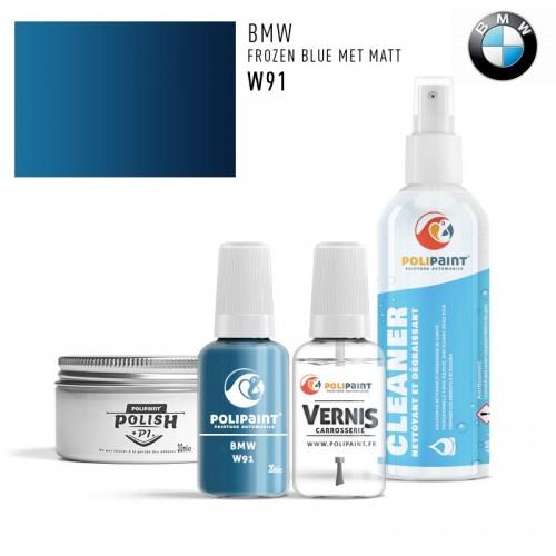 Stylo Retouche BMW W91 FROZEN BLUE MET MATT