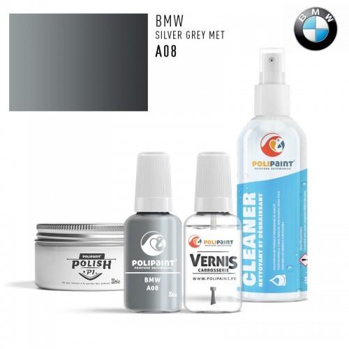 Stylo Retouche BMW A08 SILVER GREY MET