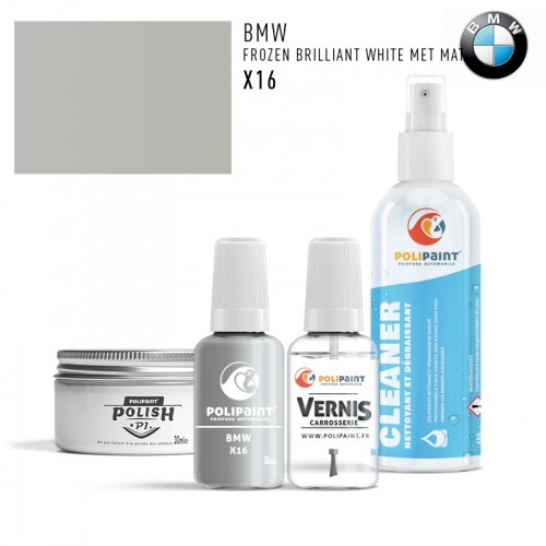 Stylo Retouche BMW X16 FROZEN BRILLIANT WHITE MET MAT