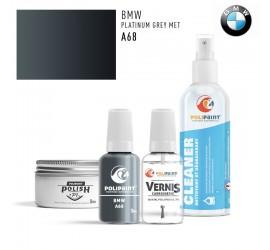 A68 PLATINUM GREY MET BMW