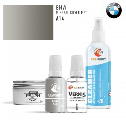 Stylo Retouche BMW A14 MINERAL SILVER MET
